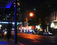海外の夜道