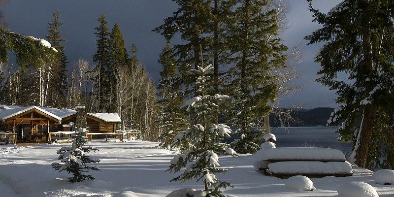 ホームステイで雪かき
